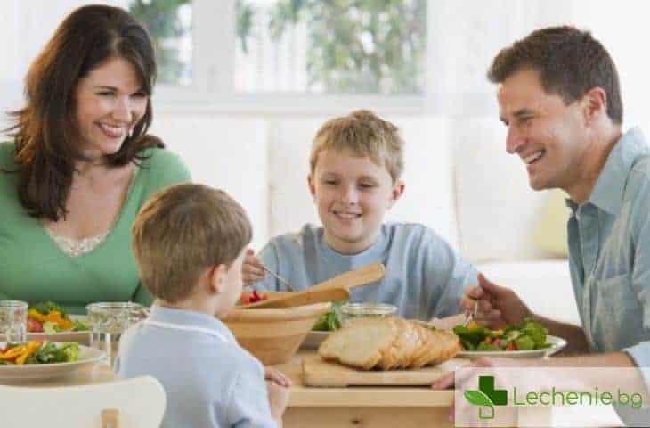 Кога и с кого се храним е също толкова важно, колкото и какво ядем