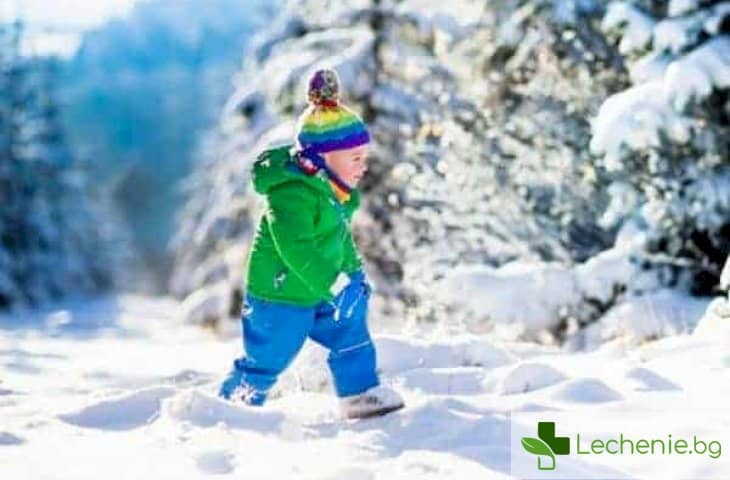 При какви температури да разхождаме детето през зимата